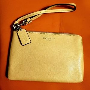 Coach leather wristlet  (worn once)